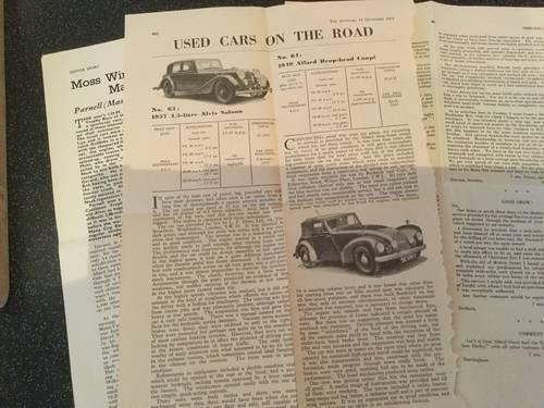 1950 Alvis 4.3 litre original instruction book For Sale (picture 6 of 6)