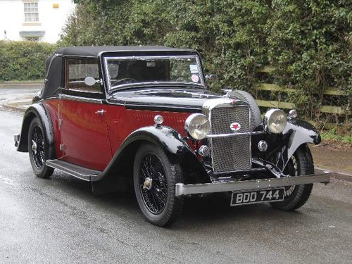 1936 Alvis Firebird DHC SOLD (picture 1 of 6)