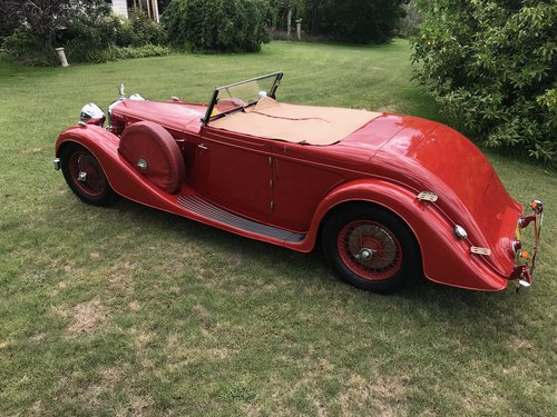 1937 Alvis 4.3 ONE OFF VANDEN PLAS COACHWORK For Sale (picture 5 of 6)