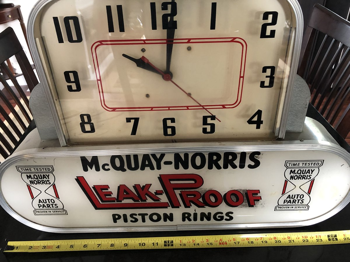 1950s McQuay Norris Clock For Sale (picture 1 of 4)