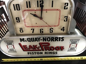 1950s McQuay Norris Clock