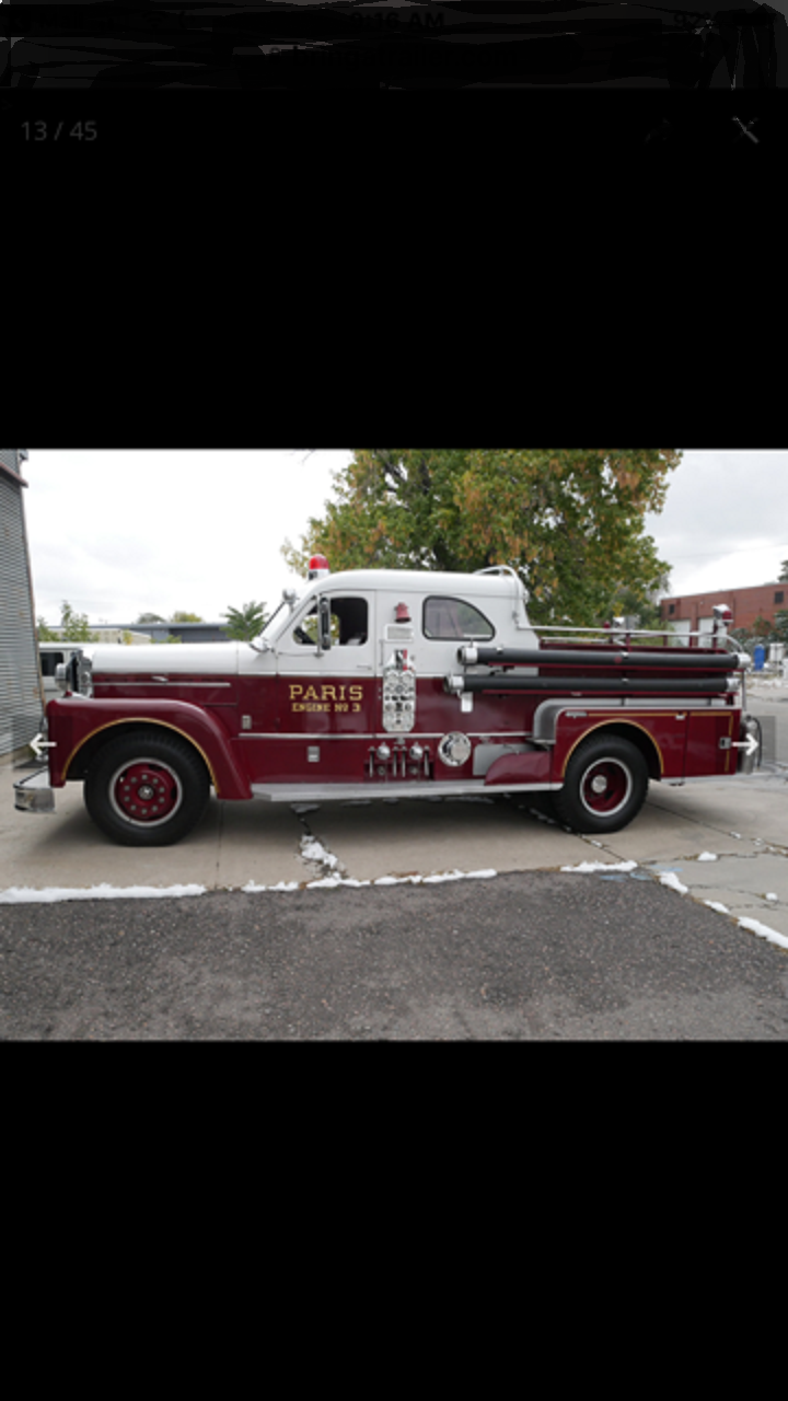 1961 Seagrave Fire Truck For Sale (picture 2 of 6)