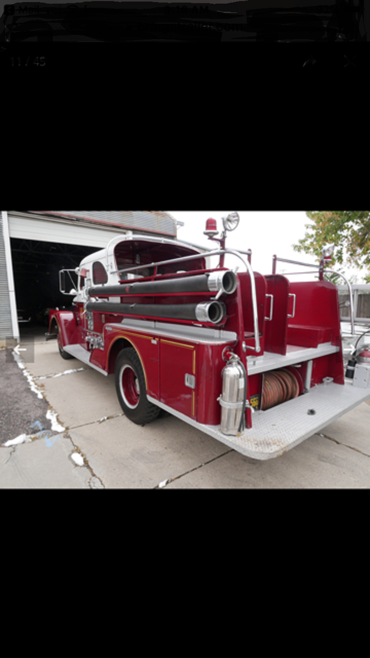 1961 Seagrave Pumper Fire Truck For Sale (picture 4 of 6)