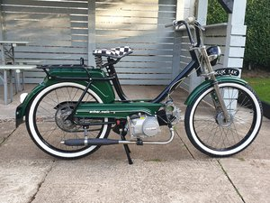 Classic vintage moped
