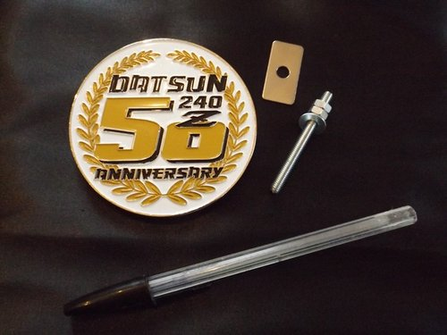 50 year Datsun Z anniversary badge and sticker For Sale (picture 1 of 6)