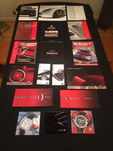Alfa Romeo Brochures/Magazines Collection. For Sale (picture 2 of 5)