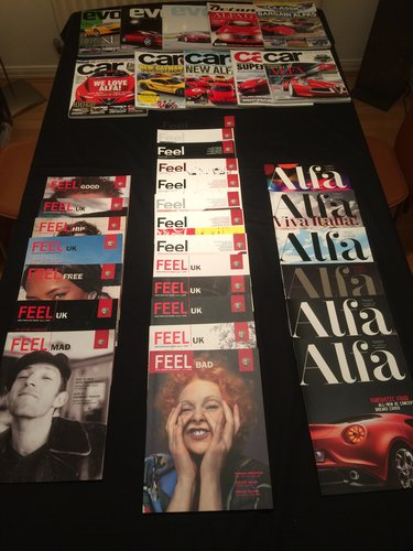 Alfa Romeo Brochures/Magazines Collection. For Sale (picture 4 of 5)