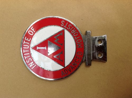 Institute Of Advanced Motorists Enamel Badge  SOLD (picture 1 of 1)