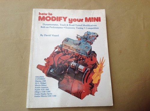 David Vizards Modify your Mini Book  SOLD (picture 1 of 2)