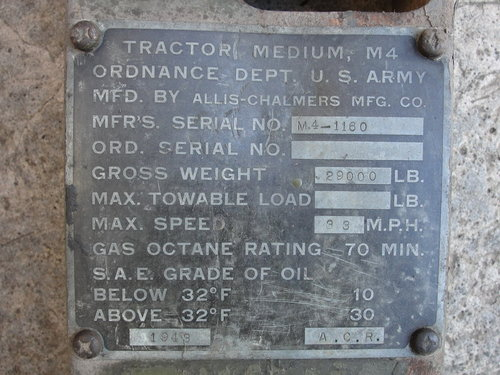 1943 Military M-4 HST in excellent conditions all orig. For Sale (picture 5 of 6)