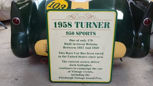 1958 Turner 950S race car For Sale (picture 5 of 6)