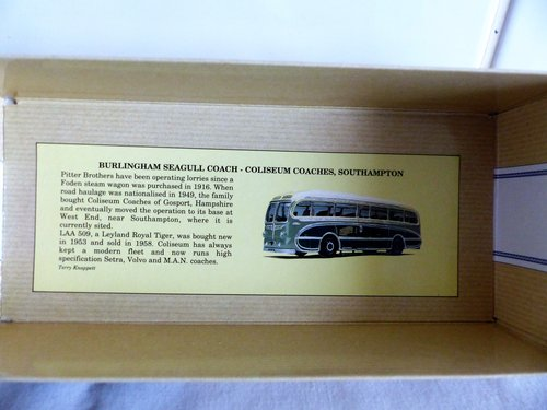 BURLINGHAM SEAGULL-COLISEUM COACHES 1:50 SCALE For Sale (picture 4 of 6)