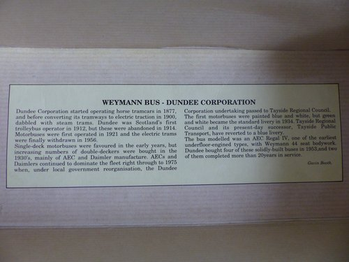 WEYMANN SINGLE DECK BUS-DUNDEE CORPORATION For Sale (picture 5 of 6)