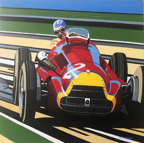 Tim Layzell - Fangio 250F Original artwork For Sale (picture 1 of 1)