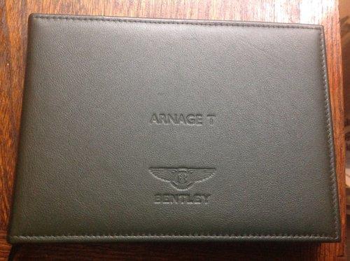 Bentley Arnage T. Handbook For Sale (picture 1 of 3)