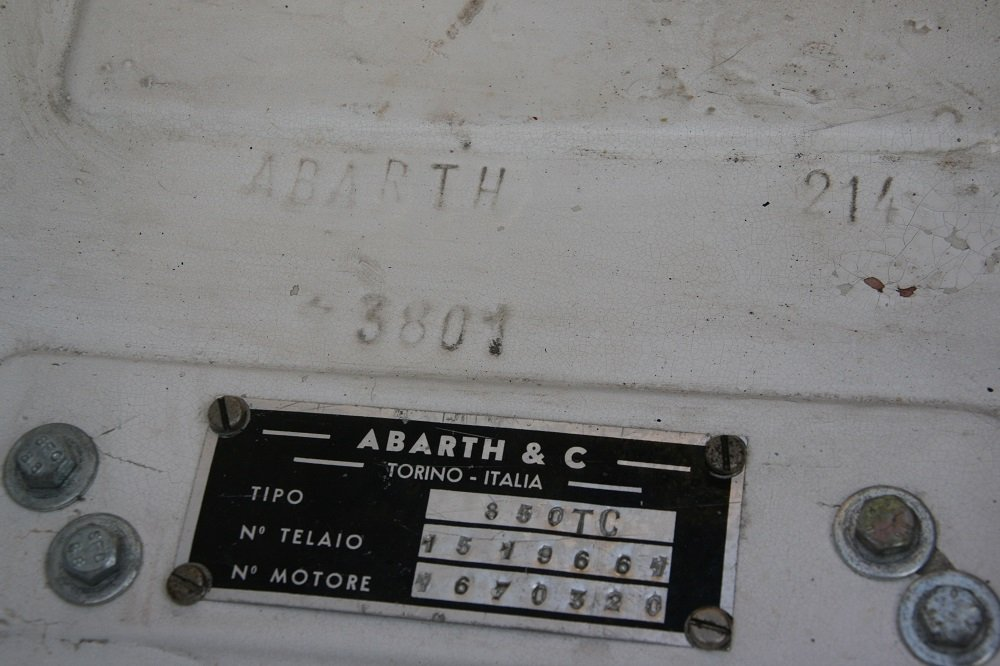 1963 ABARTH 850TC (AB214) **FIA HTP & FIVA Papers** For Sale (picture 4 of 6)