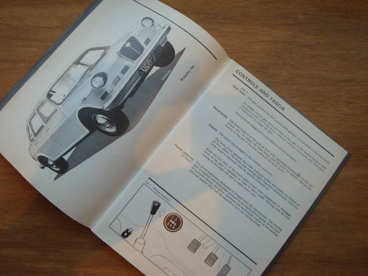 1967 Wolseley Six owners Handbook For Sale (picture 1 of 4)