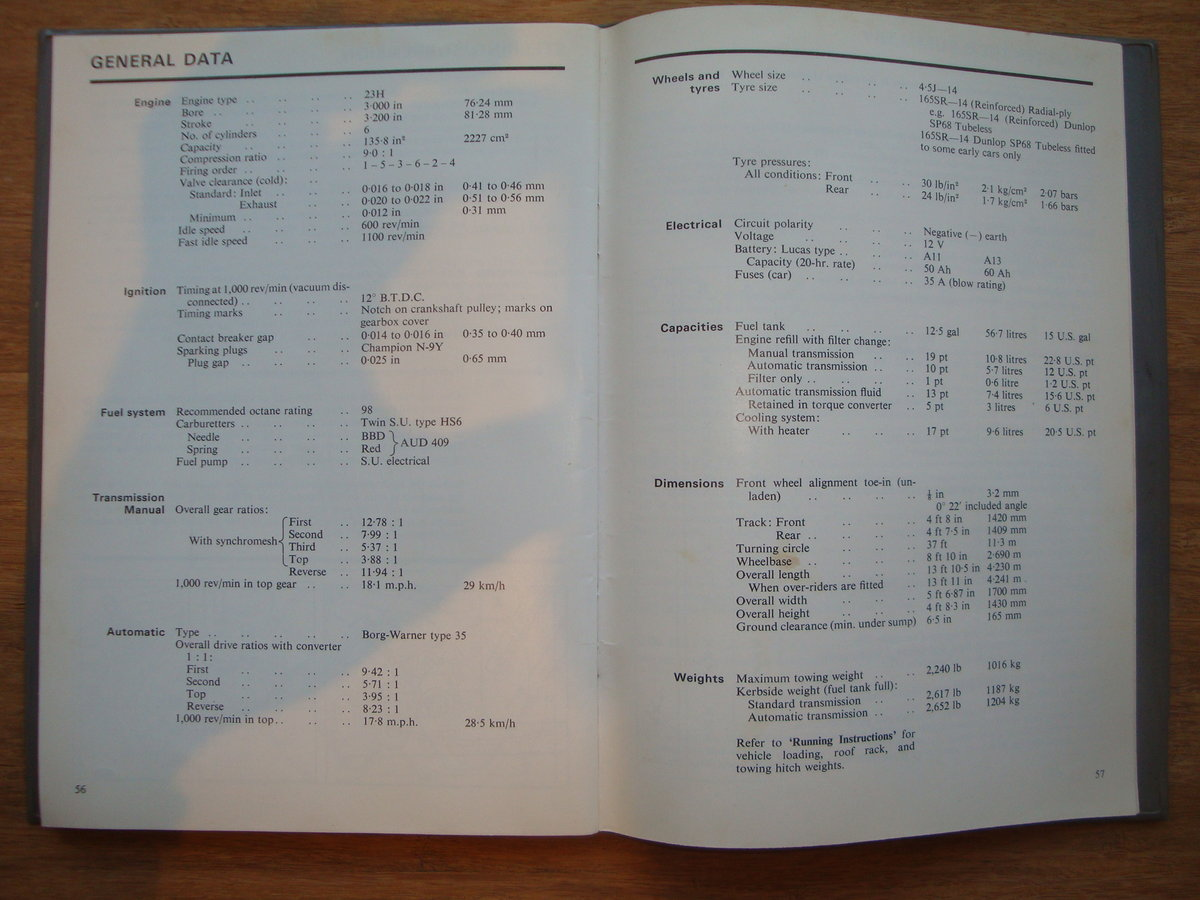 1967 Wolseley Six owners Handbook For Sale (picture 4 of 4)