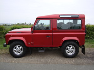 1998 Landrover Defender 300TDI  SW  SWB Red For Sale