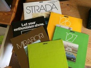 Fiat Strada, Mirafiori,126,127 Brochures For Sale