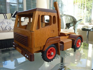 Wooden Hand Made Truck & Trailer