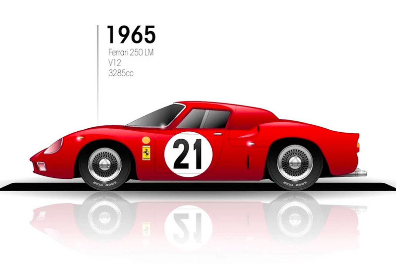 1964 FERRARI 250 LM REPLICA BUILT WITH ORIGINAL PARTS For Sale (picture 1 of 5)
