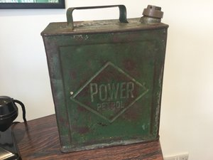 Pre war power petrol can For Sale
