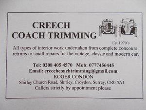 CREECH COACH TRIMMING.