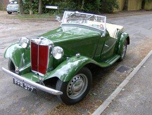 1951 MG TD Genuine sound original UK car For Sale