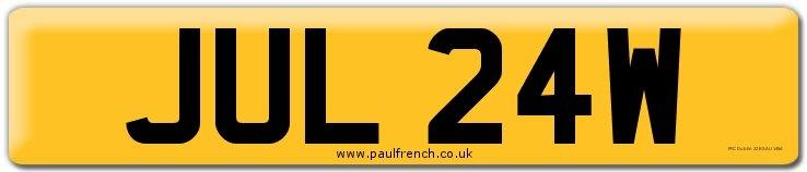 JUL 24W  Registration Number For Sale (picture 1 of 6)