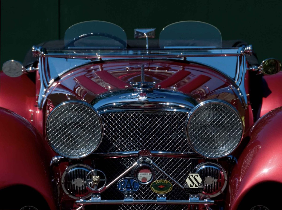 2002 Ruby Red Suffolk Jaguar SS100 Recreation For Sale (picture 1 of 6)