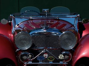 2002 Ruby Red Suffolk Jaguar SS100 Recreation For Sale