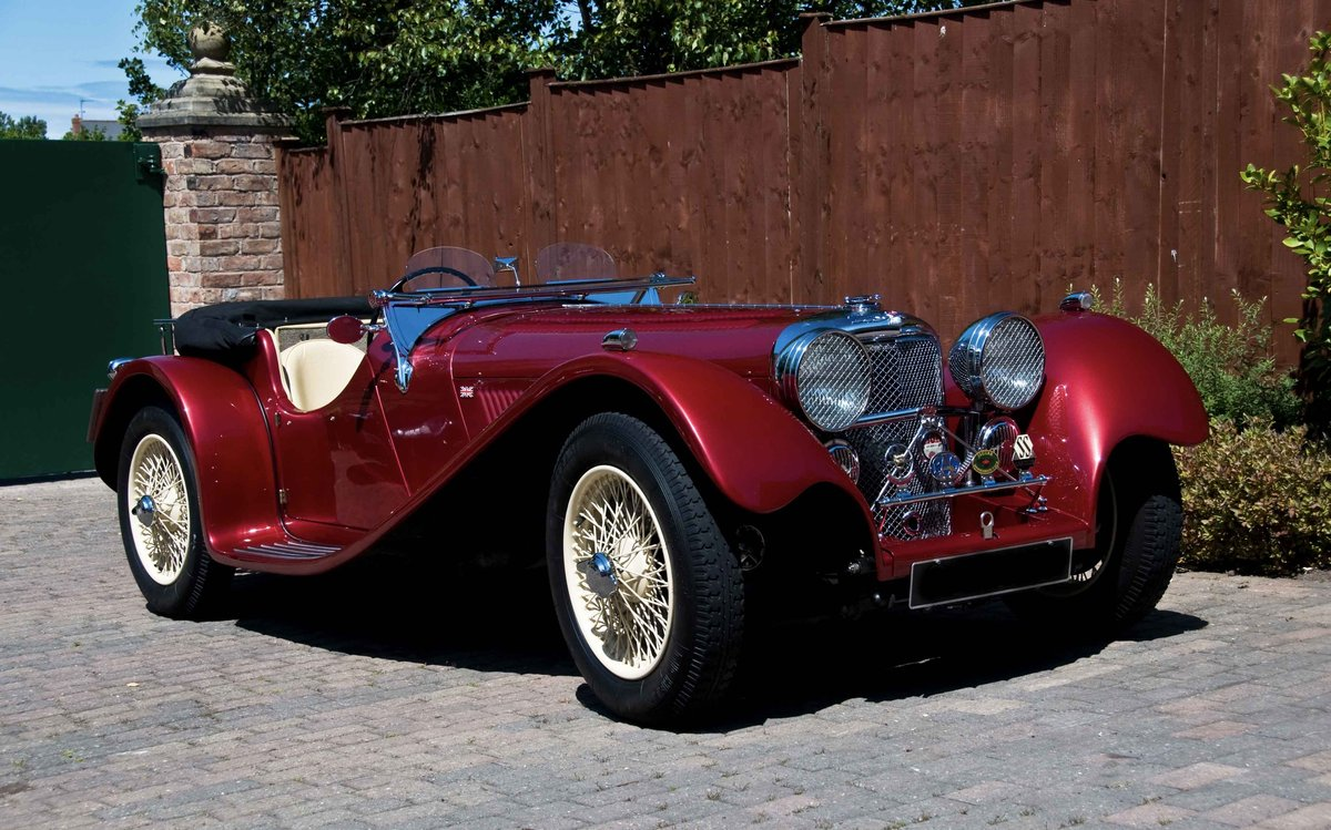 2002 Ruby Red Suffolk Jaguar SS100 Recreation For Sale (picture 2 of 6)
