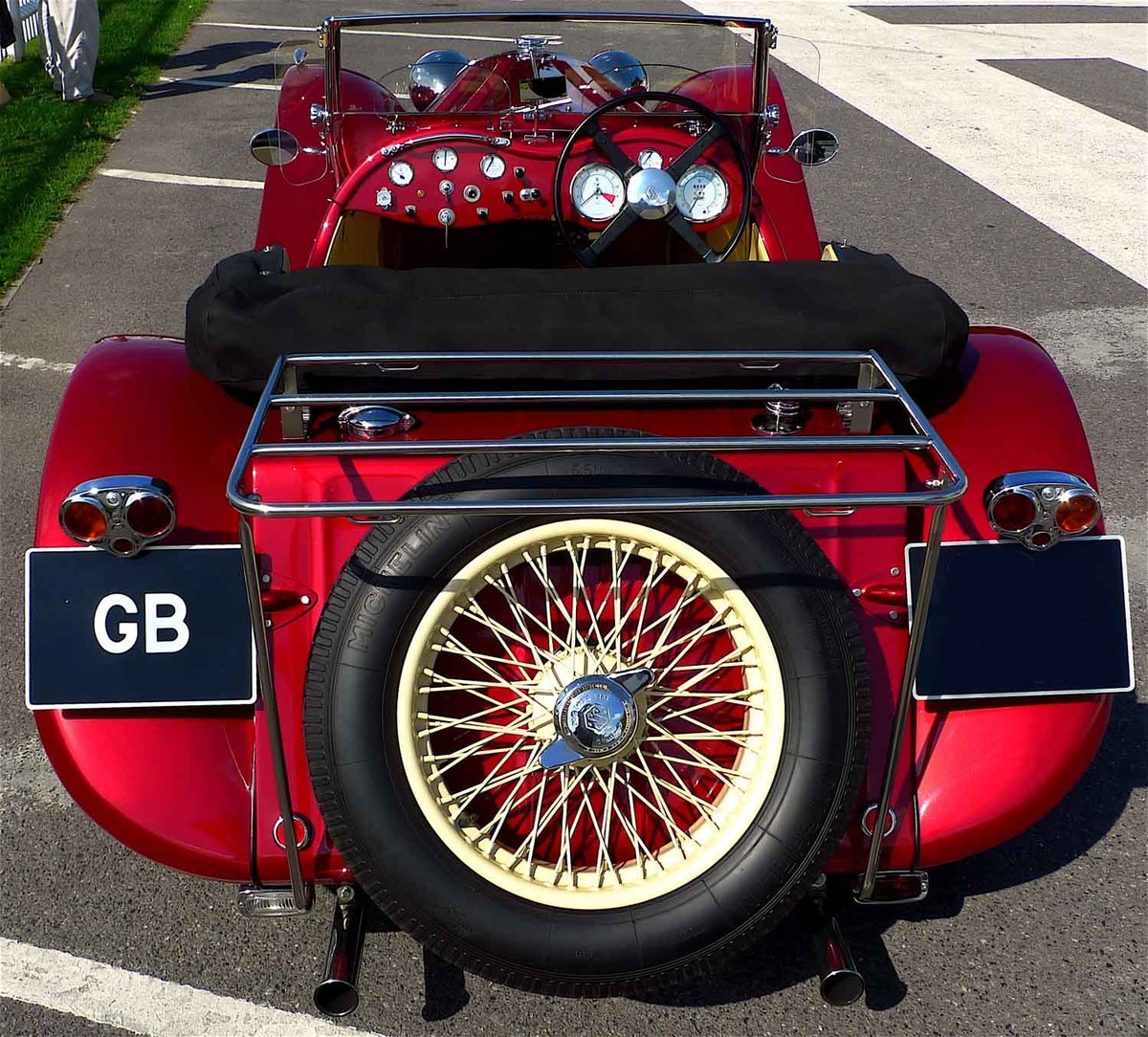 2002 Ruby Red Suffolk Jaguar SS100 Recreation For Sale (picture 5 of 6)