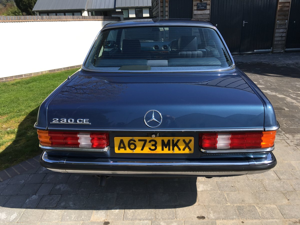 1983 Mercedes-Benz 230 CE Auto W123 Pillarless Coupe For Sale (picture 5 of 6)