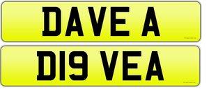 DAVE A registration on retention D19  VEA For Sale