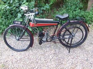 1923 Terrot 150cc belt-drive flat-tank. Restored. For Sale