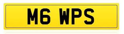 cherished private number plate, M6 WPS , BMW M6