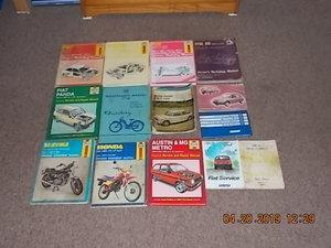 workshop manuals For Sale