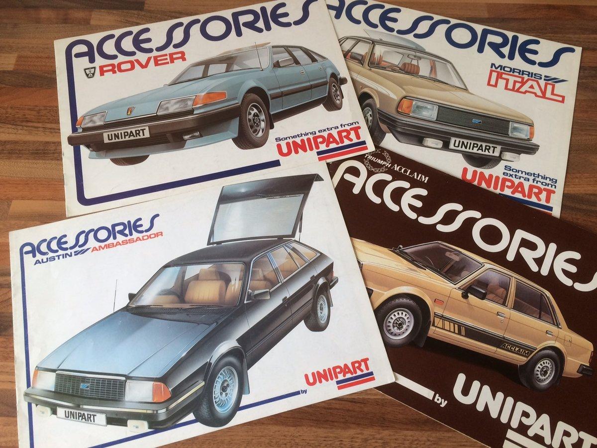 Unipart Austin, Morris, Triumph, Rover brochures. SOLD (picture 1 of 3)