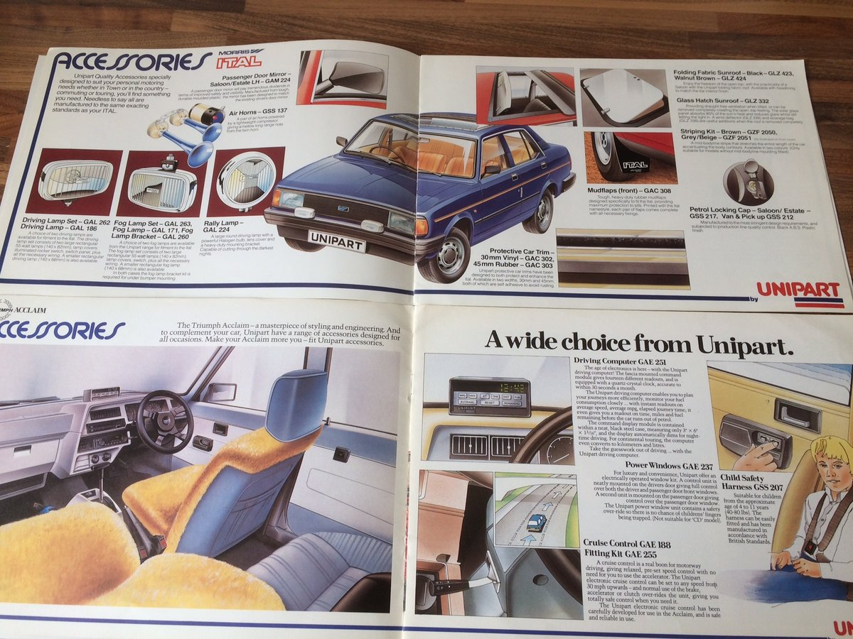 Unipart Austin, Morris, Triumph, Rover brochures. SOLD (picture 3 of 3)