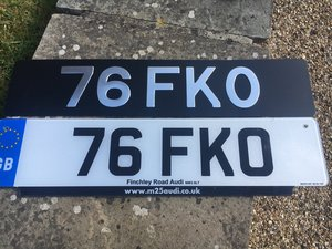 Short dateless number plate, no vat to pay on top