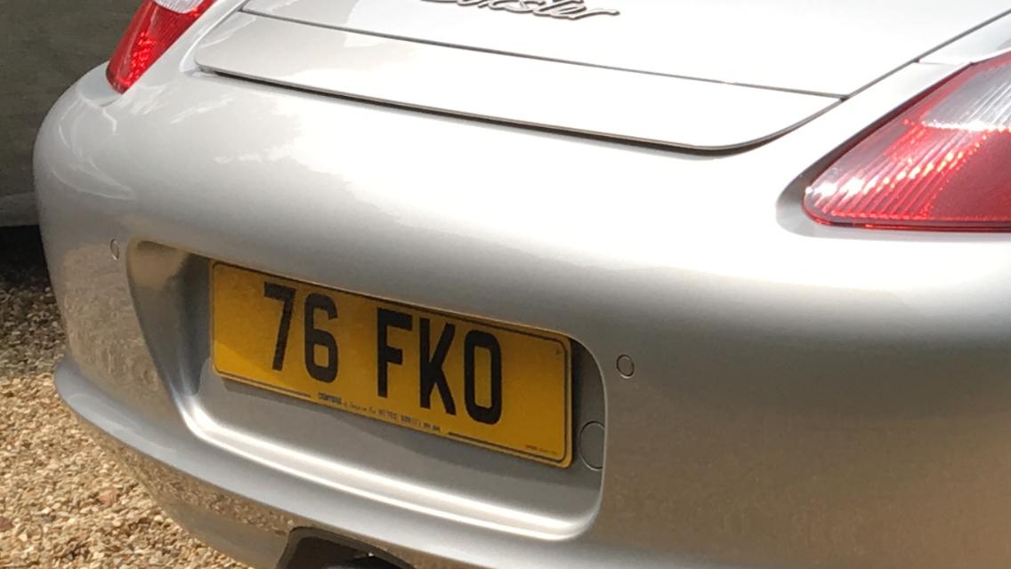 Short dateless number plate, no vat to pay on top For Sale (picture 2 of 2)