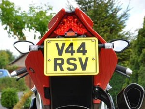APRILIA RSV4 Registration Number Plate V44 RSV