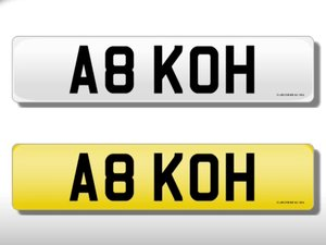 A8 KOH   Cherished Registration   A8 KOH For Sale