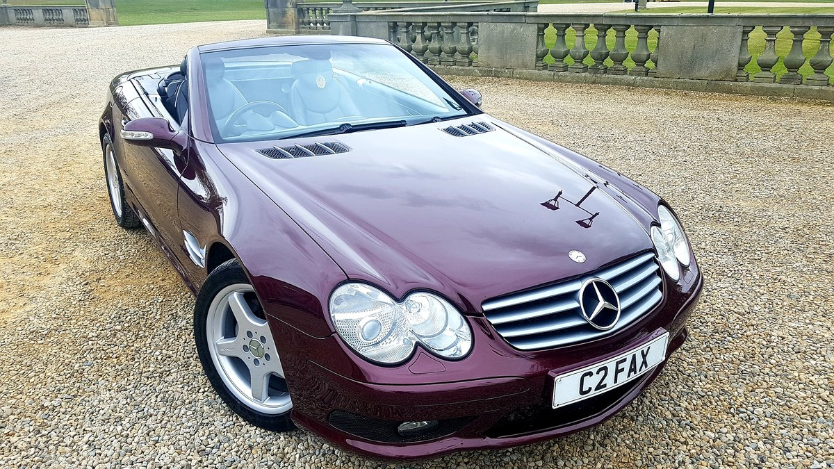 2002 Mercedes sl500 amg designo mystic red special orde For Sale (picture 1 of 6)