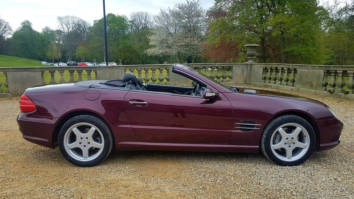 2002 Mercedes sl500 amg designo mystic red special orde For Sale (picture 2 of 6)