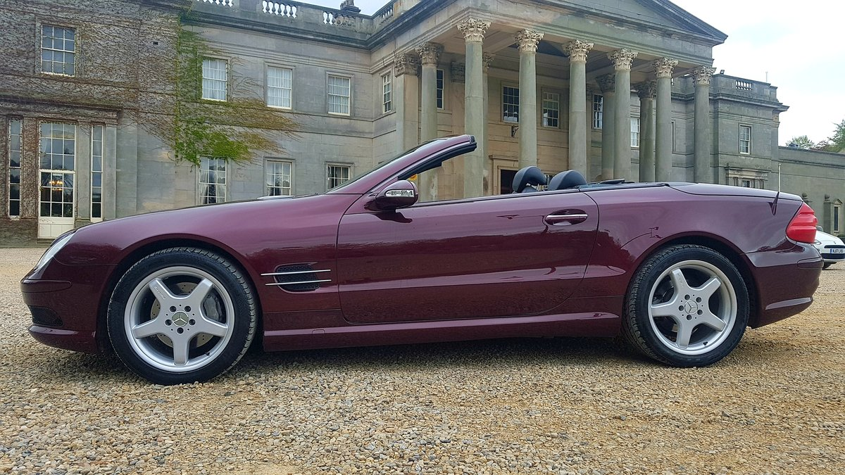 2002 Mercedes sl500 amg designo mystic red special orde For Sale (picture 4 of 6)