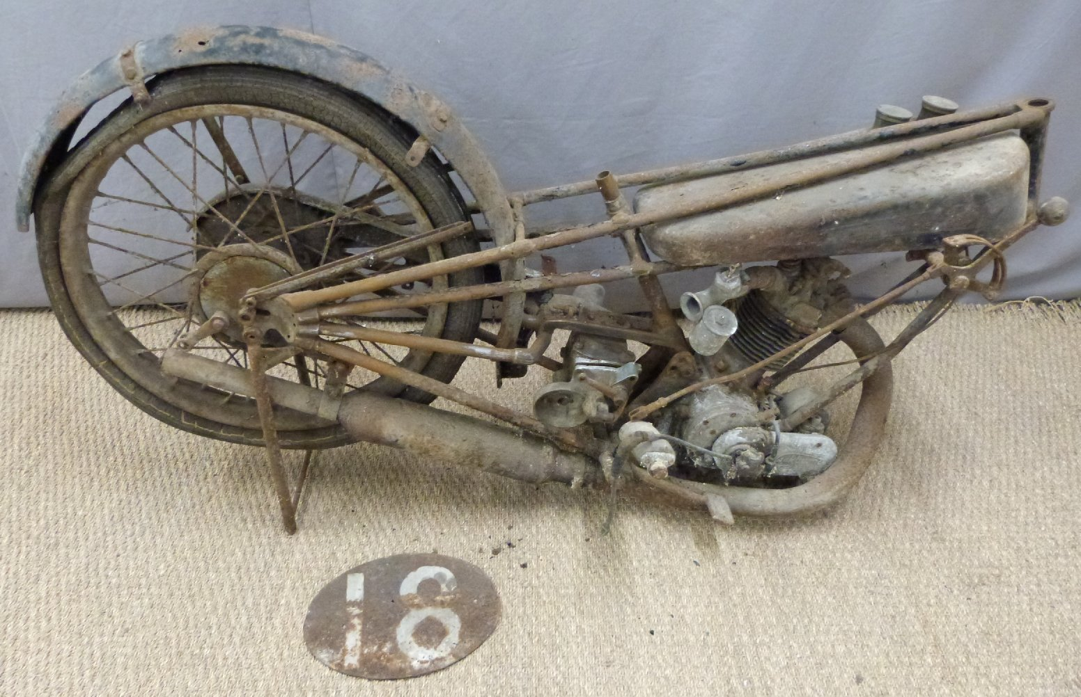 1927 Cotton 350cc OHV works racing motorcycle For Sale by Auction (picture 1 of 6)