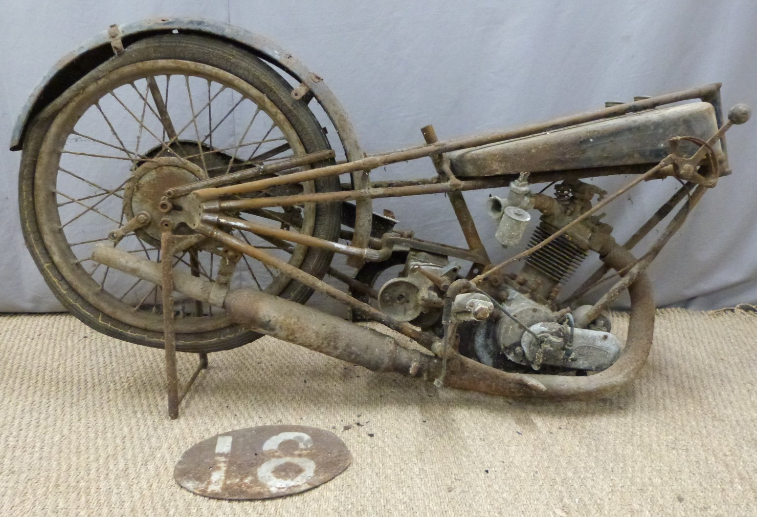1927 Cotton 350cc OHV works racing motorcycle For Sale by Auction (picture 2 of 6)